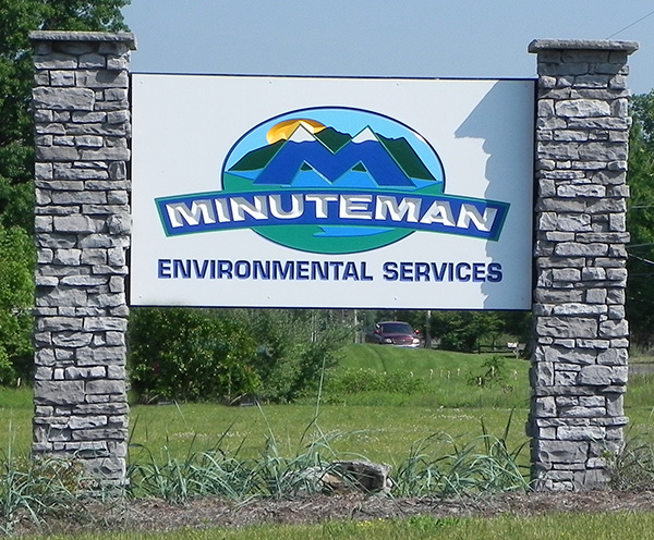 Minuteman sign, Milton offices