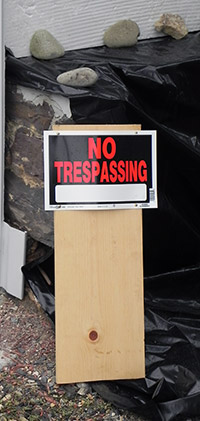 No Trespass Sign from Kathaleen Persing