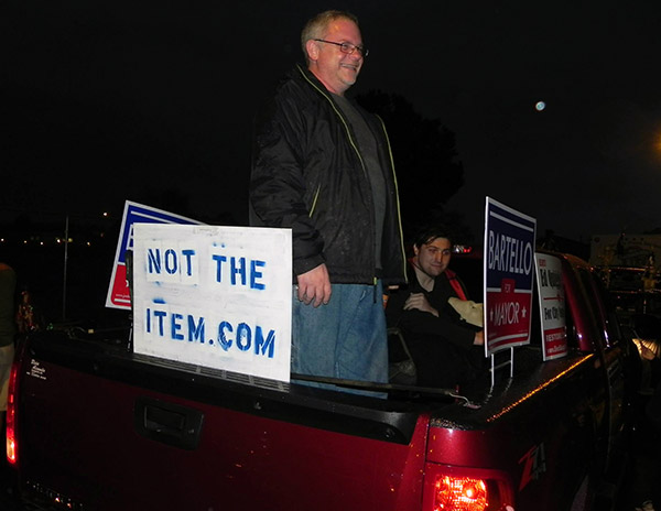 Joe Bartello at the Sunbury Halloween Parade