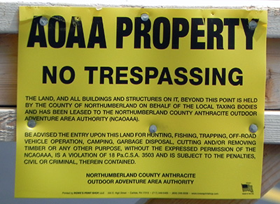 NOAA Property - No Trespassing