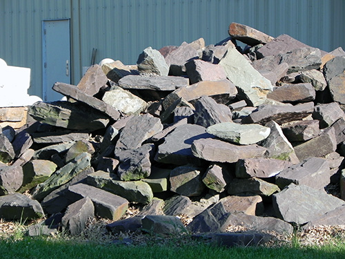 Pile of ex WPA Wall Stone at City Barn