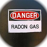 Radon is dangerous.